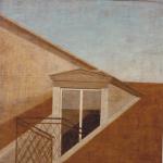 100cmx100cm, huile sur toile, 1986