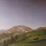 Panoramique de San Sebastian, 150cmx160cm, huile sur toile marouflée sur bois, 1997