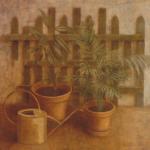 75cmx75cm, huile sur carton, 1987