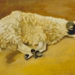 « Bouc », 60cmx30cm, huile sur toile, 2001