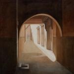 Paysages du Maroc, 130cmx130cm, huile sur toile, 2004