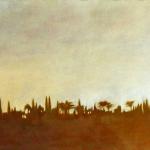 Paysages du Maroc , 80cmx40cm, huile sur toile, 2002
