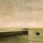Port d'Essaouira , 130cmx97cm, huile sur toile, 2002