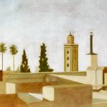 Marrakech, 100cmx50cm, huile sur toile, 2002