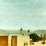 Atlas, 100cmx100cm, huile sur toile, 2002