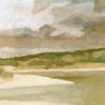 Abrantes, 65cmx25cm, huile sur papier préparé, 2004