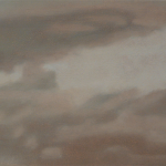 Ciel de Paris, 20cmx40cm, huile sur toile, 2010