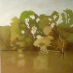 Canal de Bourgogne, 50cmx50cm, huile sur toile, 2010