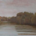 Canal de Bourgogne, 90cmx30cm, huile sur toile, 2010