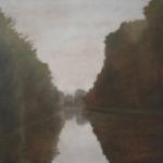 Canal de Bourgogne, 40cmx40cm, huile sur toile, 2010
