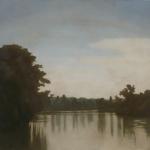Canal de Bourgogne, 80cmx80cm, huile sur toile, 2010