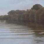 Canal de Bourgogne, 80cmx40cm, huile sur toile, 2010