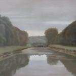Canal de Bourgogne, 100cmx81cm, huile sur toile, 2010