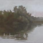 Canal de Bourgogne, 60cmx30cm, huile sur toile, 2010