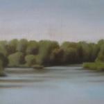 Canal de Bourgogne, 60cmx30cm, huile sur toile, 2009