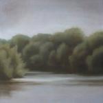 Canal de Bourgogne, 40cmx40cm, huile sur toile, 2009