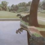 Fontvert à Lourmarin, 40cmx40cm, huile sur toile, 2012