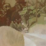 Fontvert à Lourmarin, 80cmx80cm, huile sur toile, 2012