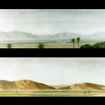 La palmeraie, 90cmx30cm (x2), huile sur toile, 2002