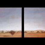 (35cmx35cm) x2, huile sur toile, 1995