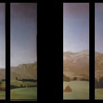 Panoramique San Sebastian, (44cmx160cm) x 4, huile sur toile marouflée sur bois, 1997