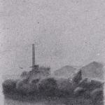 32,5cmx50cm , fusain et mine de plomb sur papier gris, 2004