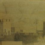 Marrakech, 31cmx18,5cm, mine de plomb sur carton, 2003