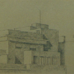 30cmx12cm, mine de plomb sur papier, 1995