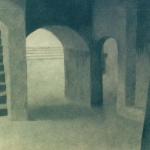 Pompeï, 52cmx40cm, mine de plomb et fusain sur papier, 2000-2003