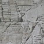 Mur, 58cmx38cm, crayon de couleur réhaussé de fusain et mine de plomb, 2012