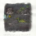 21cmx29,7cm, Fusain rehaussé de crayon de couleur