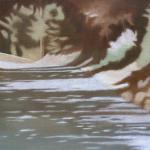 Arbres de Fonvert, 33cmx22cm, huile sur toile, 2015