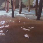 Arbres de Fonvert, 50cmx40cm, huile sur toile, 2015