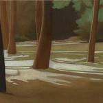 Arbres de Fonvert, 90cmx30cm, huile sur toile, 2015