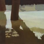 Arbres de Fonvert, 80cmx40cm, huile sur toile, 2015