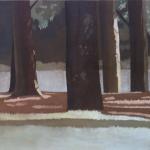 Arbres de Fonvert, 100cmx65cm, huile sur toile, 2015