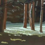 Arbres de Fonvert, 100cmx73cm, huile sur toile, 2015